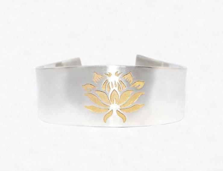 Protea 3 flower bracelet s/g