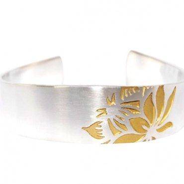 Protea single flower bracelet s/g