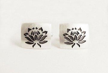 Protea square cufflinks